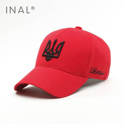Кепка бейсболка, Ukraine, L / 57-58 RU, Хлопок, Красный,Inal