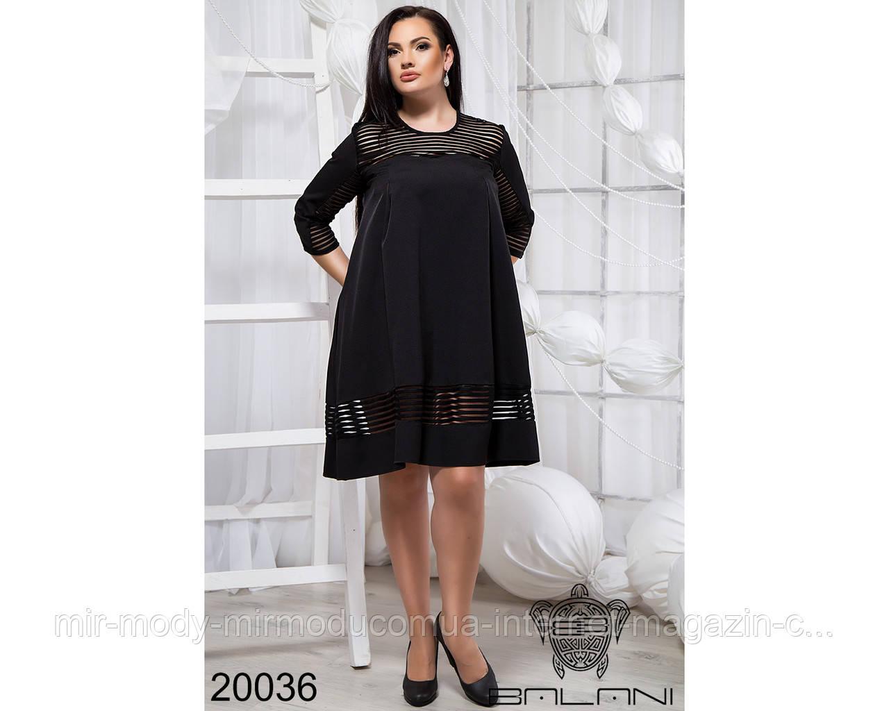 Стильное короткое платье - 20036 с 48 по 56 размер бн