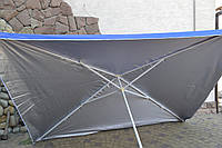 Садовый,торговый зонт 3х3,серебро-700гр