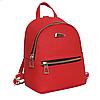 Рюкзак маленький школьный городской красный Модный Высота 20 см.