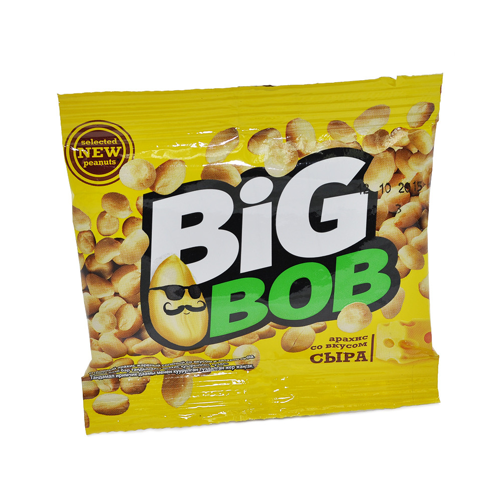 Арахис соленый со вкусом сыра 30г BIG BOB
