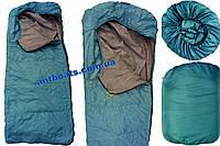 Спальный мешок туристический, спальник одеяло с капюшоном Турист (до -8*)