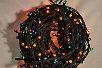 Гирлянда ёлочная 300 миниламп 8 режимов свечения Цвет Мультиколор Провод чёрный 220 Вт