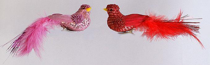 Декоративная птица 17см, 2 вида
