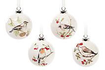 Елочный керамический шар с картинкой Птица 8см, 4 вида