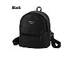 Рюкзак маленький школьный городской черный  Модный Высота 25 см.