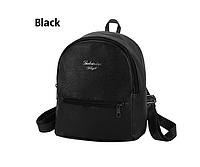 Рюкзак маленький школьный городской черный  Модный Высота 25 см., фото 1
