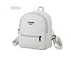 Рюкзак маленький школьный городской белый  Модный Высота 25 см.