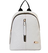 Рюкзак маленький школьный городской серый Змеиная кожа Модный Высота 25 см.