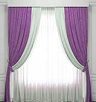 Готовый комплект из портьерной ткани - Анкара (ширина 4 метра)