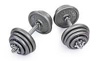 Гантели разборные стальные 27 кг(2*13,5 кг, гриф 35 см)