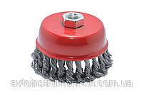 Щётка торцевая из плетёной проволоки 85 мм, М14 применяется для зачистных работ Housetools 60K208
