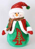 Новогодняя мягкая игрушка Снеговик 38см