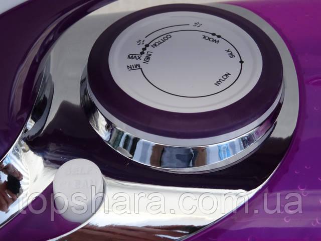 Утюг Domotec MS-2201 керамика, с регулируемым потоком пара, фиолетовый