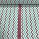 Хлопковая ткань польская зигзаг мятно-серый МЕЛКИЙ №61, фото 3