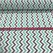 Хлопковая ткань польская зигзаг мятно-серый МЕЛКИЙ №61, фото 4