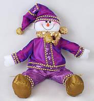 Новогодняя мягкая игрушка Снеговик 50см