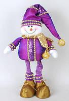 Новогодняя мягкая игрушка Снеговик 63см