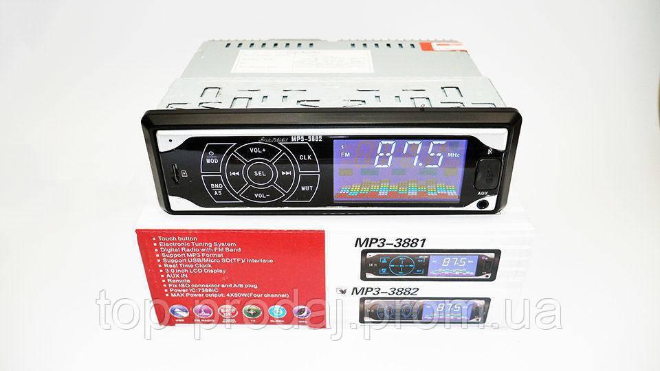 Автомагнитола Pioneer , Автомагнитола MP3 3882 ISO 1DIN, Магнитола сенсорная в авто, Автомагнитола пионер