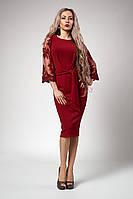 Платье мод №704-3, размеры 42,46,48,50,52 бордо