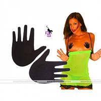 """Эротичные наклейки на грудь, накладки - стикини для груди """"Ладошки"""", разные цвета, размер универсальный."""