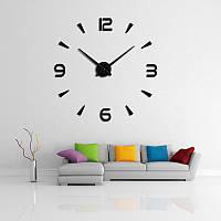 3-D большие настенные часы капельки черточки черные