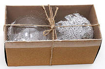 Набор елочных шаров с кристаллами (2шт), 8см