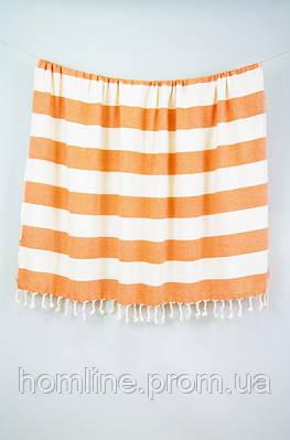 Плед-накидка Barine Deck Throw оранжевый 135*160
