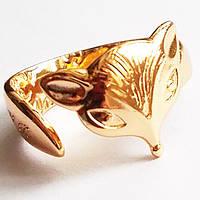 """Кольцо """"Лисенок"""", позолота 18К. Размер регулируется. Ювелирная бижутерия Xuping Jewelry."""