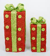 Набор декоративных подарков (2шт) с подсветкой, 27см и 38см