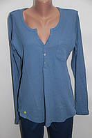 Женская голубая трикотажная блузка Турция склад 7км