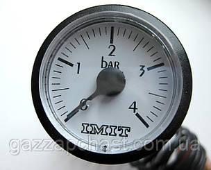 Манометр капиллярный круглый Ø 37 мм, 0-4 бар (066226)