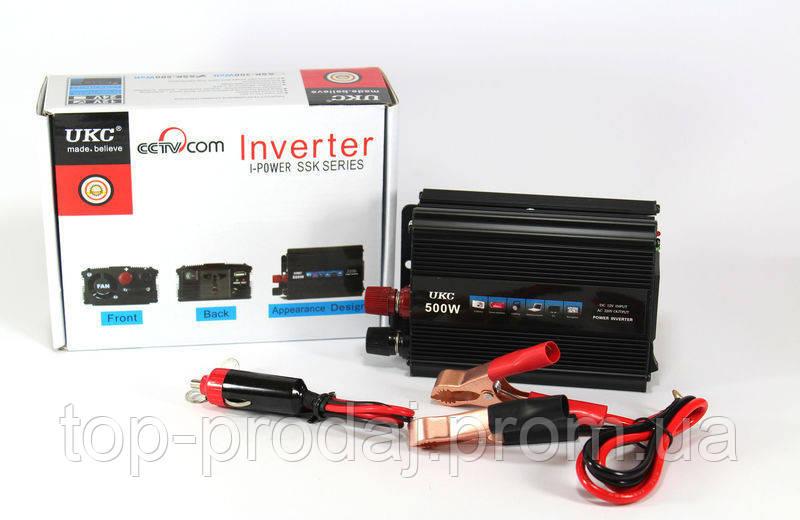 Преобразователь  AC/DC  500W SSK, Преобразователь постоянного тока, Инвертор 12v 220v