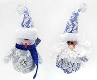 Новогоднее украшение Санта, Снеговик, 18см