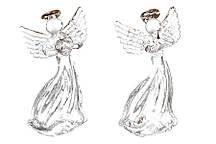 Елочное украшение Ангел 6.5см, 2 вида