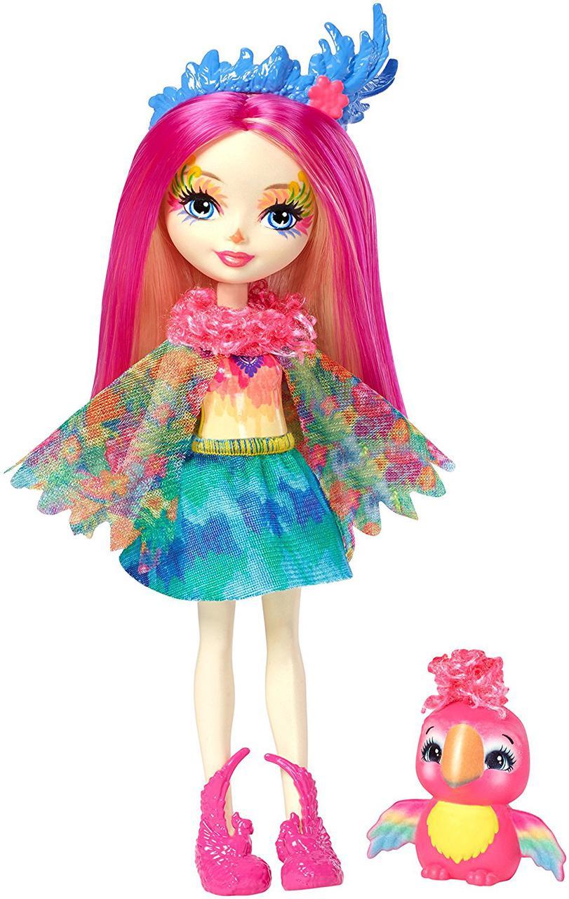 Кукла Энчантималс попугай Пикки и попугайчик Шинни Enchantimals Peeki Parrot Doll & Sheeny