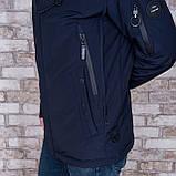 Чоловіча демісезонна куртка, синього кольору, фото 4