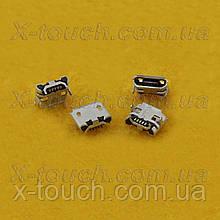 Роз'єм micro-USB B BF 5pin з бортиком