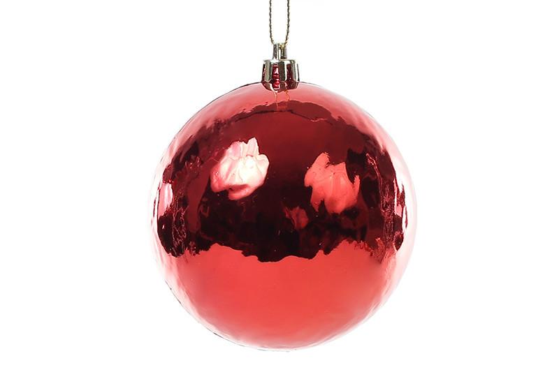 Набор елочных шаров (3шт) 8см, красный