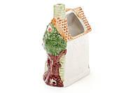 Подставка керамическая рельефная для кухоных принадлежностей Домик (без аксессуаров)