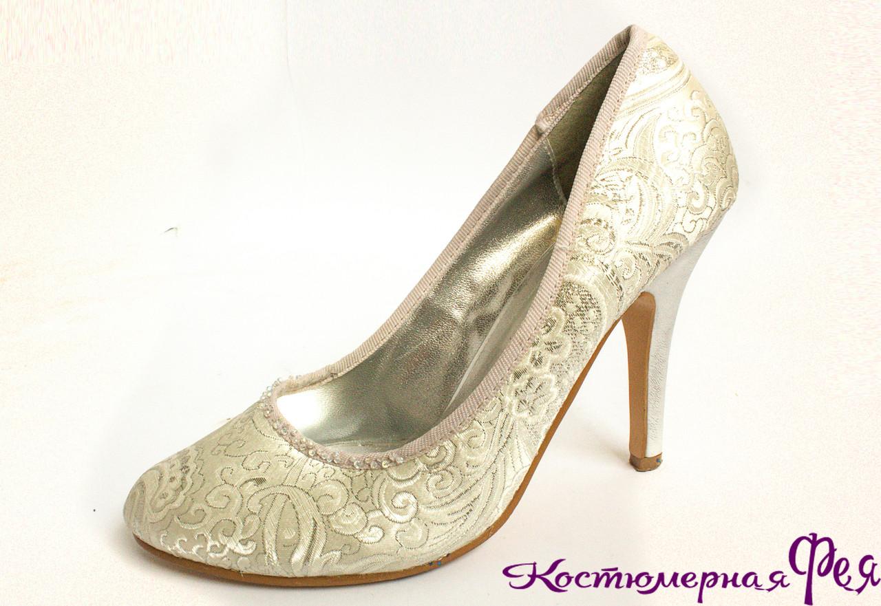 Туфли серебристо-белые (артикул № 70)