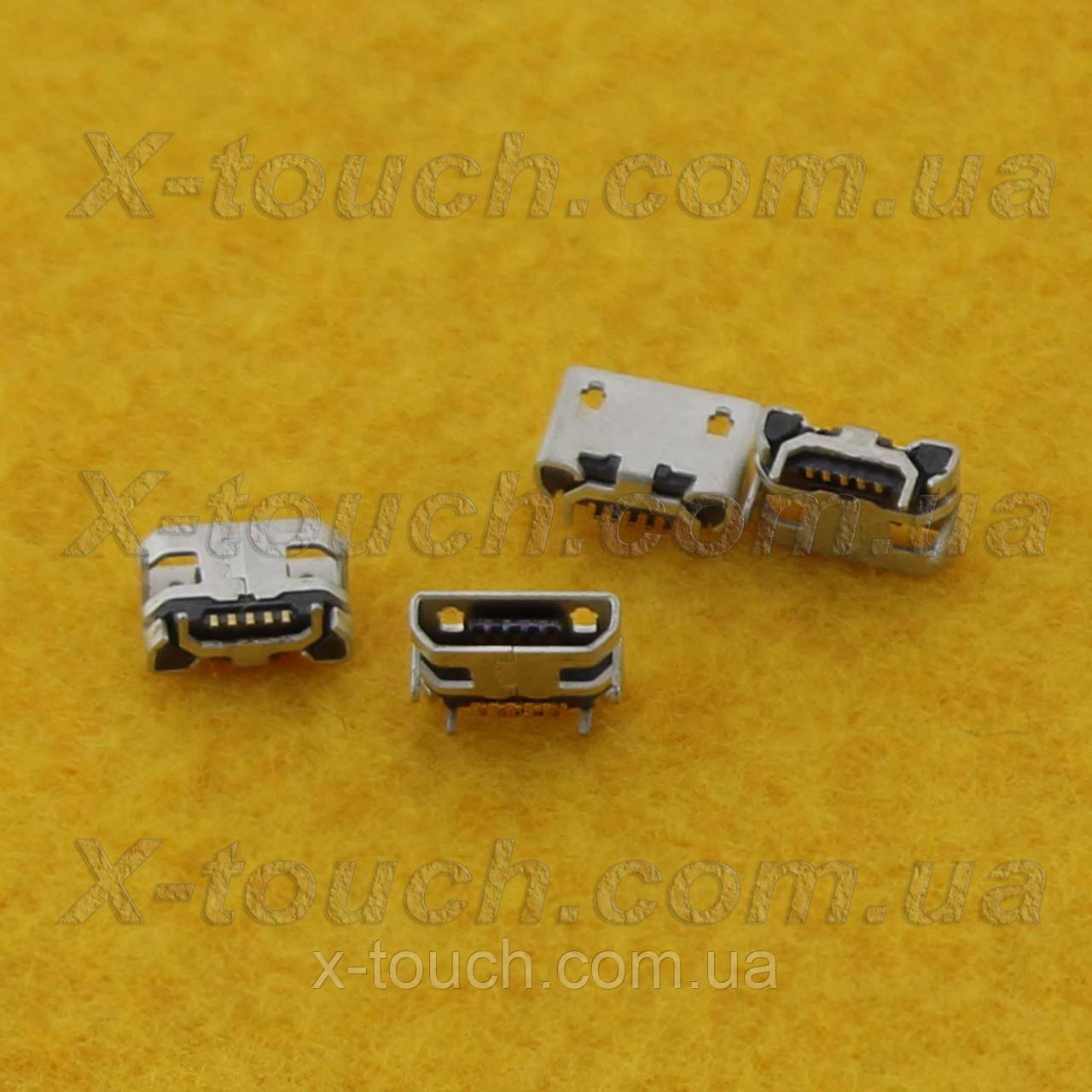 Разъемmicro-B USB BF 5pin без бортика