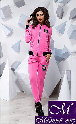Женский розовый спортивный костюм (р. S, M, L) арт. 16071, фото 2