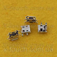 Роз'єм micro-B USB 5pin з бортиком