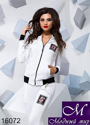 Женский белый спортивный костюм (р. S, M, L) арт. 16072, фото 2