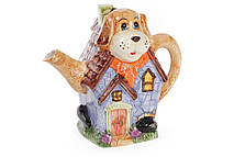 Чайник керамический рельефный 1.2л в форме собаки