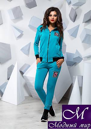 Женский голубой спортивный костюм (р. S, M, L) арт. 16073, фото 2