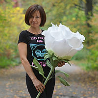 Букет из конфет роза гигант №148 Оригинальный подарок для девушки, женщины на день рождения