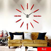Часы большие  настенные лодочка, пуля, овальные красные