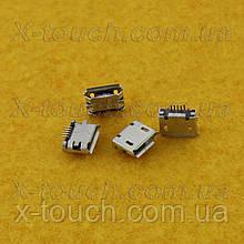 Роз'єм micro-B USB 5pin з бортиком, подовжені контакти.